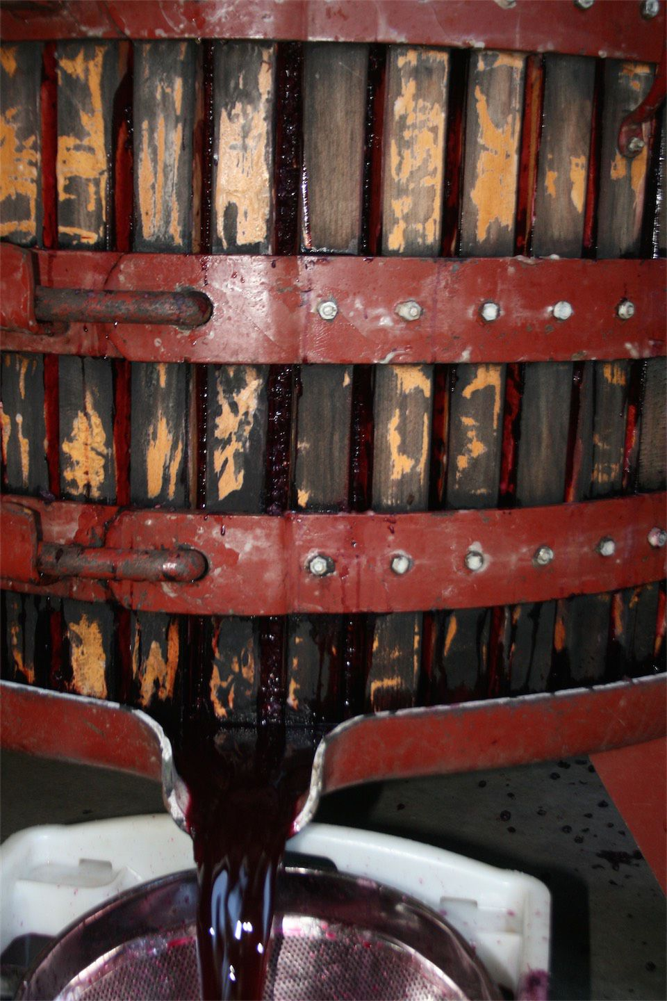 Basket Press Red Wine Coming Out 1460